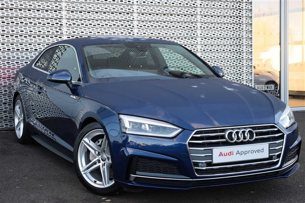 used 2017 audi a5 coup coupe 8 000 miles in blue for sale. Black Bedroom Furniture Sets. Home Design Ideas