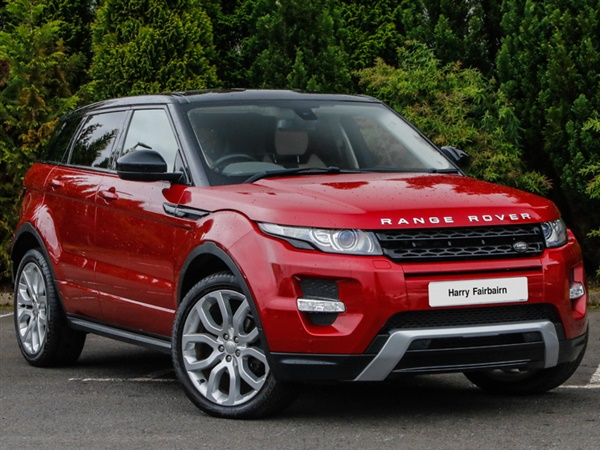 used 2014 diesel land rover range rover evoque in red. Black Bedroom Furniture Sets. Home Design Ideas