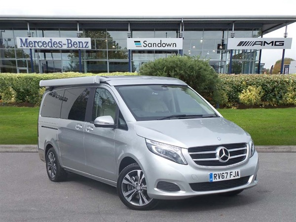 Used 2017 diesel mercedes benz v class in brilliant silver for Mercedes benz marco polo for sale