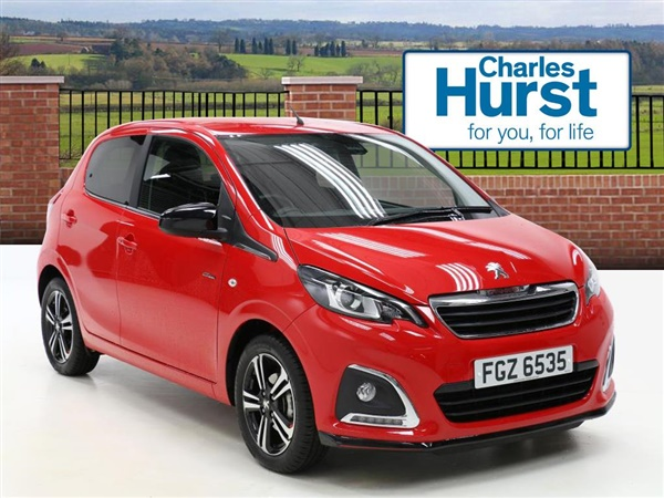 used 2017 peugeot 108 1 2 puretech gt line 5dr in red for sale in belfast for 9 495. Black Bedroom Furniture Sets. Home Design Ideas