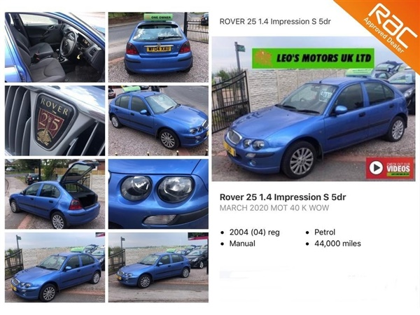 Large image for the Rover 25